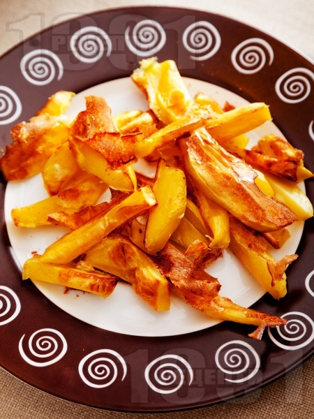 Здравословни пържени картофи с белтъци на фурна - снимка на рецептата